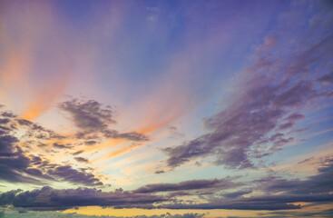 Natural background: dramatic sky at sunset - fototapety na wymiar