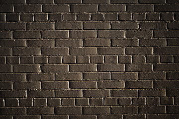 background dark brick wall with deep vignetting