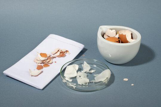 Eggshell membrane. Collagen from eggshell membranes. Zero waste cosmetics.