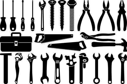 Tools SVG Cut Files | Tool Box Silhouette Bundle | Wrench Svg | Hammer Svg | Screwdriver Svg | Saw Svg