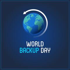 Fototapeta World Backup Day. blue abstract background