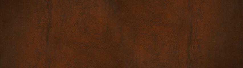 Grunge rusty orange brown metal steel stone background texture banner panorama