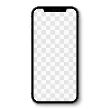 Smartphone realistic vector. Iphone 12 black. Realistic vector