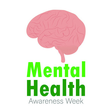 Mental Health Awareness Week Vector Illustration.
