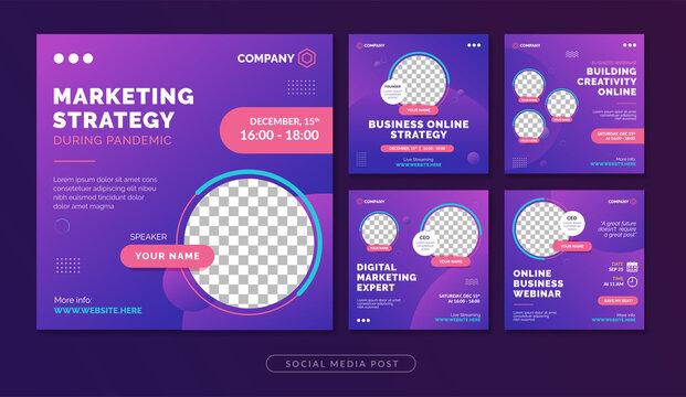 Marketing strategy webinar social media post template