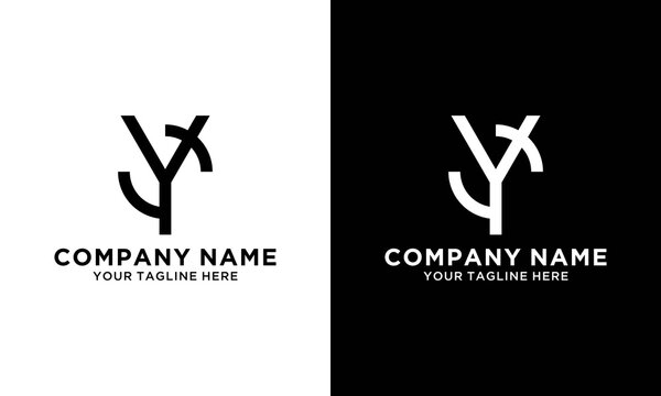 CY ,YC ,C ,Y Letter Logo Design with Creative Modern Trendy Typography