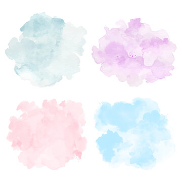 Pastel abstract splash background with watercolor
