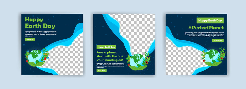Earth Day. Education to protect the environment. Banner vector for social media ads, web ads, business messages, discount flyers and big sale banners.