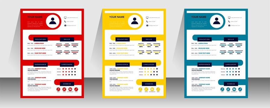 professional curriculum vitae template