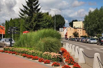 Obraz Central park in Nowy Dwor Gdanski. Poland - fototapety do salonu