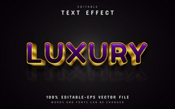 Purple luxury text effects