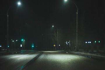 night traffic in the city