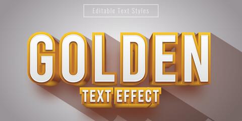 Fototapeta Editable 3D Golden Metal Text Effect