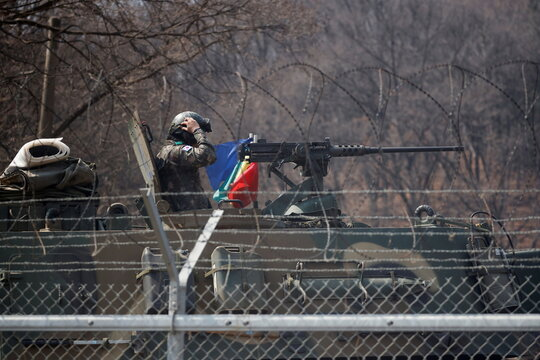 Military exercise near the demilitarized zone separating the two Koreas in Paju