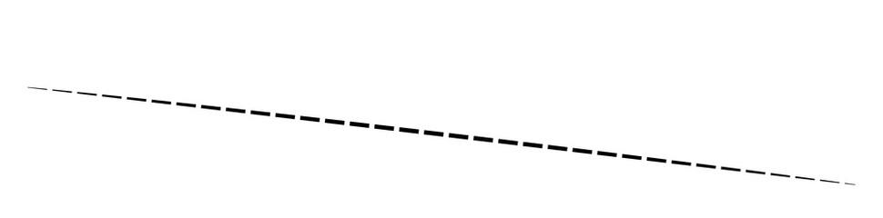 Horizontal dashed, segmented lines design shape element Wall mural