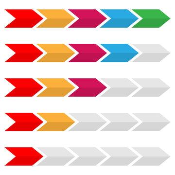Loader, preloader, progress bar vector element