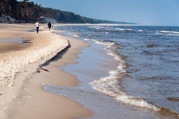 Plaża nad Morzem Bałtyckim, Kopalino, Lubiatowo, Choczewo