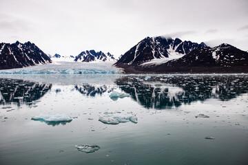 Arctic ocean seascape in Svalbard in the arctic circle
