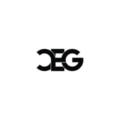 Obraz ceg letter original monogram logo design - fototapety do salonu