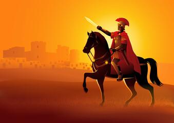 Fototapeta Gaius Julius Caesar on horseback