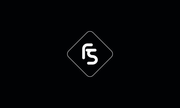 SF FS S F Letter Logo Alphabet Design Icon Vector Symbol