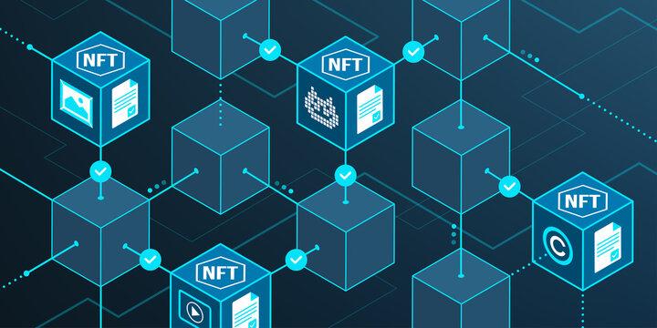 Non-fungible tokens and blockchain