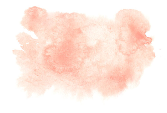 Living coral water color splas. Water color, pink, white background, background in the wedding and other tasks..