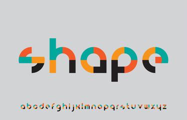 Obraz colorful calligraphy alphabet small lettering a to z font family - fototapety do salonu