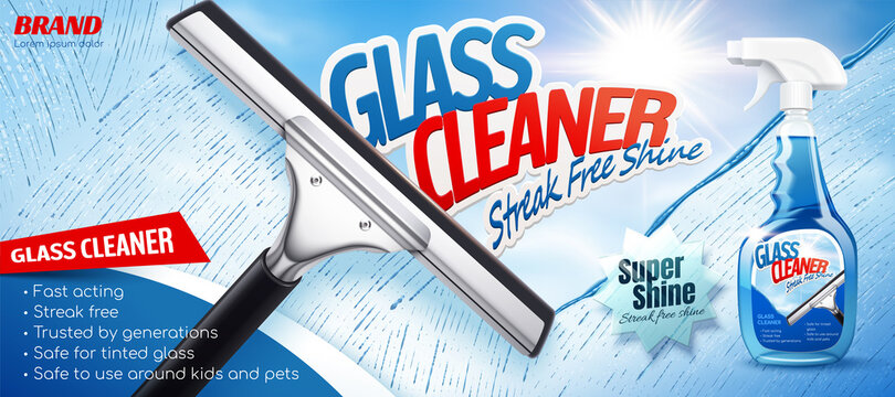 Glass cleaner ad promo