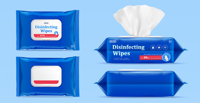 Wet wipes package mock up