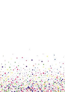 Blue Carnival Square Decoration. Scattered Confetti Background. Red Circle Illustration. Frame Dot Illustration. Purple Fun Star.