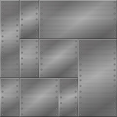 Seamless metal texture, iron plates for graphic design.