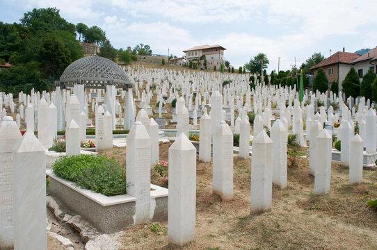 Tombstones in a Sarajevo Cemetery