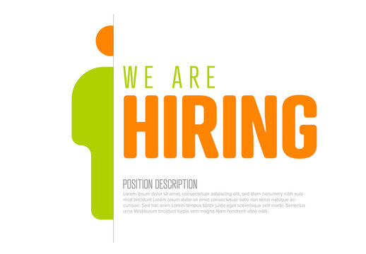 We are hiring minimalistic flyer template