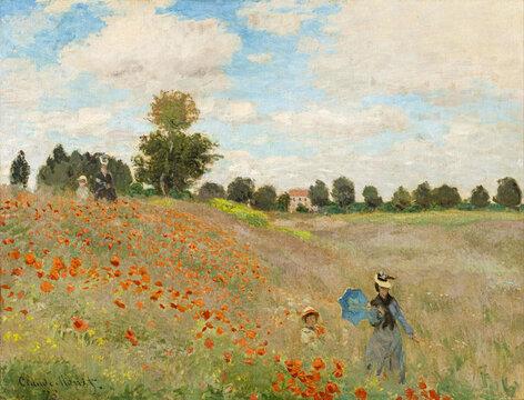 Claude Monet (1840-1926) Poppy Field, 1873, oil on canvas. Musée d'Orsay, Paris, France.