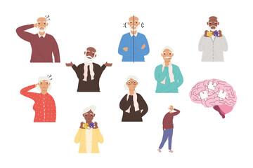 nine alzheimer patients Wall mural