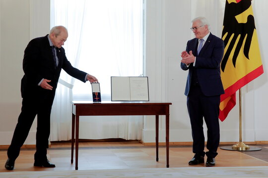 German President Steinmeier awards residents for their commitment during pandemic in Berlin