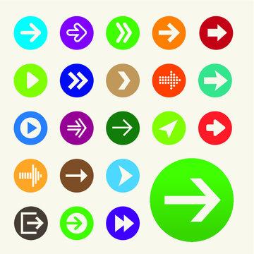 Set fo wayfinding navigation arrows