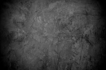 Obraz Old wall texture cement dark black gray  background abstract grey color design are light with white gradient background. - fototapety do salonu