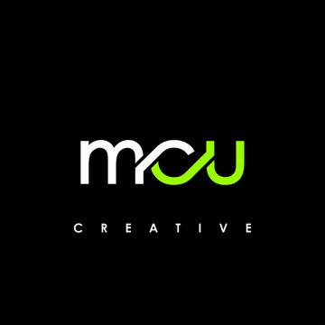 MCU Letter Initial Logo Design Template Vector Illustration