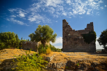 Myndos Gate - the only surviving gate of ancient city wall of Halikarnassos (Bodrum) Turkey landmark Wall mural