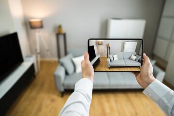 Fototapeta Virtual Open House Showing obraz