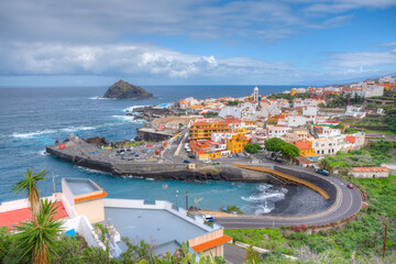 Aerial view of Garachico at Tenerife, Canary islands, Spain