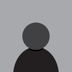 Fototapeta Profile photo placeholder icon design in dark gray tones. Avatar placement icon design. Vector illustration. obraz
