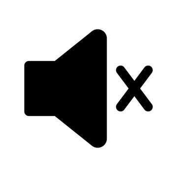 Icon Mute With Style Glyph