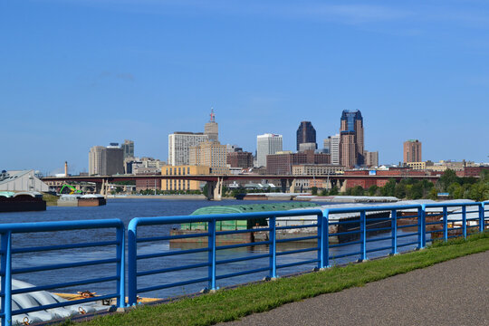 St. Paul, Minnesota Skyline along the Mississippi River