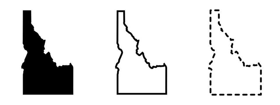 Idaho state isolated on a white background, USA map