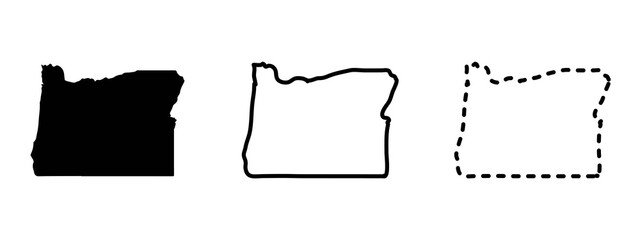 Oregon state isolated on a white background, USA map