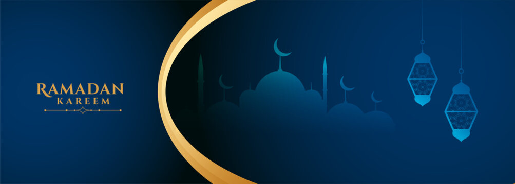 ramadan kareem wishes banner with text space