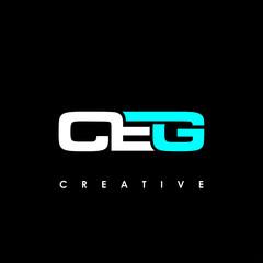 Obraz CEG Letter Initial Logo Design Template Vector Illustration - fototapety do salonu